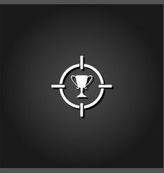 target cup trophy icon flat vector image
