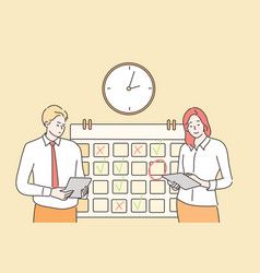 time management multitasking teamwork business vector image