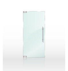 Transparent clear glass door isolated on white vector