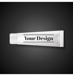 Tube Of Toothpaste Cream Or Gel Grayscale Silver vector image