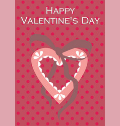 valentine heart love postcard for happy mother s vector image