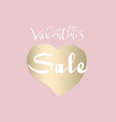 valentine s day sale banner vector image