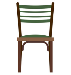 Vintage chair furniture isolated on white vector
