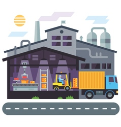 Warehouse building vector image
