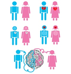 Couple relationship concept emoticons vector image