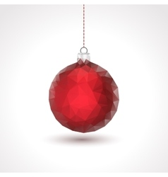 Triangle xmas ball background vector image vector image