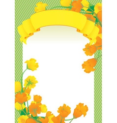 yellow scroll frame vector image vector image