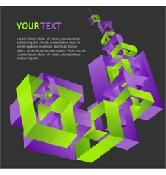 Abstract geometric template for text vector image vector image