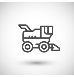 Combine harvester line icon vector image