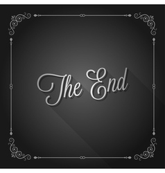 end sign movie ending frame vector image