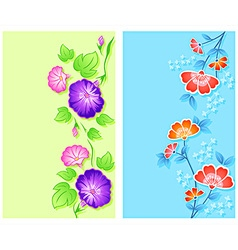 Floral curtains vector image vector image