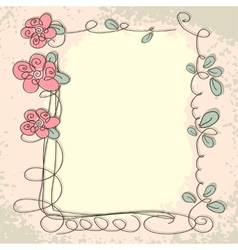 Floral frame with doodle elements vector image vector image