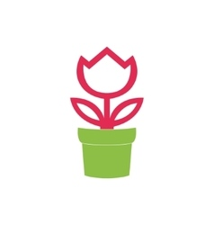 Flower in pot icon isolated on white background vector image