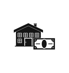 House and banknote icon simple style vector image vector image