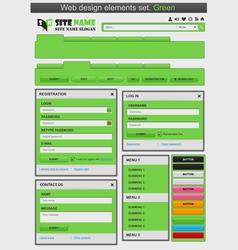 web design elements set green vector image vector image