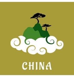China nature travel flat concept vector image vector image
