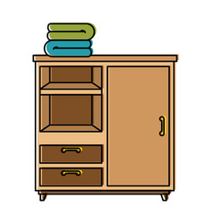 closet with clothes icon vector image