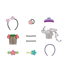 Hair ornaments vector