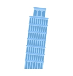Leaning Tower of Pisa architecture landmark vector image vector image