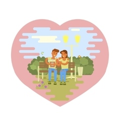 Couple of lovers vector image