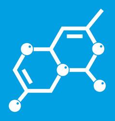 Crystal lattice icon white vector