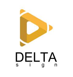 delta arrow logo vector image vector image