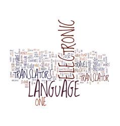 electronic language translators text background vector image vector image