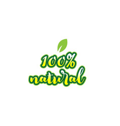 100 natural word font text typographic logo vector