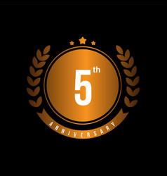 5th anniversary template design vector