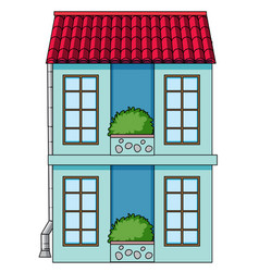 a simeple house on white background vector image