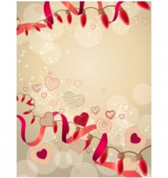 abstract festive garland vector image