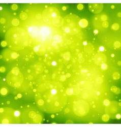 Abstract green background with bokeh lights vector