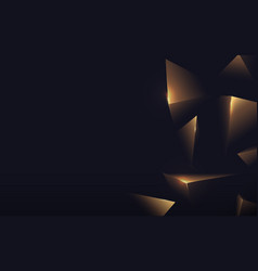 abstract polygonal pattern luxury gold on dark vector image