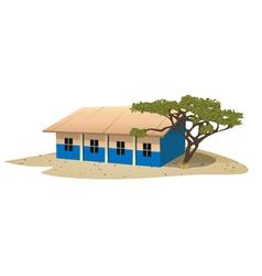 African school village vector image