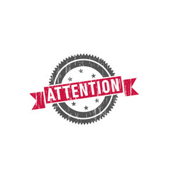 attention stamp sign seal logo vector image