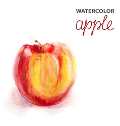 Background with watercolor apple vector