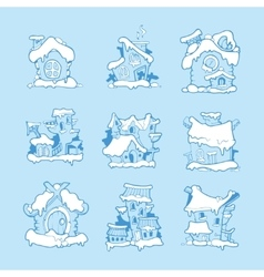 Big Set of hand drawn christmas or winter vector