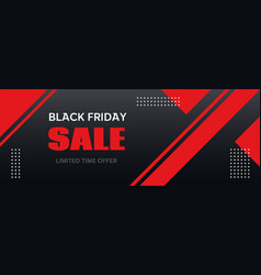 Black friday sale banner long abstract vector