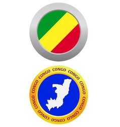 button as a symbol CONGO vector image