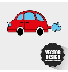 Car drawn design vector