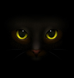 Cat monster realistic composition vector