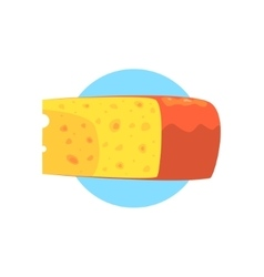 Cheese Farm Product Colorful Sticker vector image