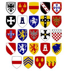 Coats of hospitaller knights vector