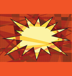 comic book background explosion vector image