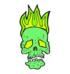 Comic cartoon skull vector