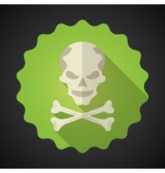 Crosed Bones Flat icon background vector