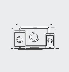 device smart phone tablet desktop vector image