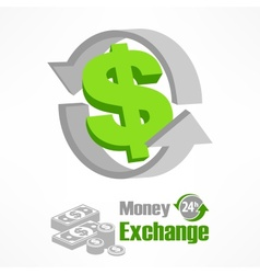 Dollar symbol in green vector image