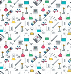 Drawing chemical seamless pattern Chemical vector image