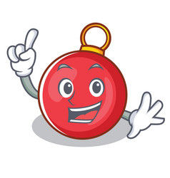Finger christmas ball character cartoon vector